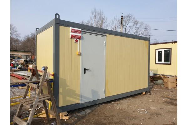 Производство контейнера для электростанции 120 кВт. Дополнительный топливный бак 1000 литров